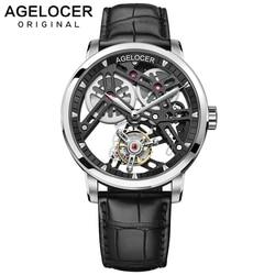 AGELOCER новые швейцарские оригинальные Tourbillon часы для мужчин запас хода 80 Топ бренд класса люкс Скелет сапфир часы для мужчин Relogio Masculino