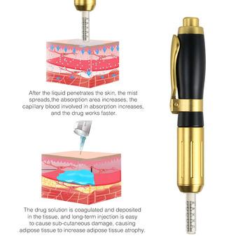 Nowy 2 w 1 ciśnienie hialuronowy długopis wysokiej gęstości metalu przeciw zmarszczkom Lip injection odmładzanie skóry 0 3 0 5ML głowy hialuron gun tanie i dobre opinie GLOMEVE CN (pochodzenie) Nawilżanie skóry Nieelektryczne Tattoo Tip hyaluron pen 316 stainless steel non needle multi shoot