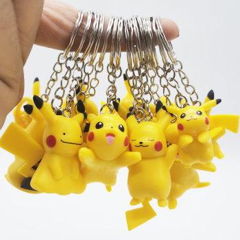 Genuine Takara Tomy Pokemon Doll DIY Keychain Pikachu Action Figure Toys for Kids Christmas Gifts image
