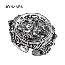 Ancient Egypt Warrior Pharaoh Retro Thai Silver Ring Personality Men Women Open Ring 925 Sterling Silver Fashion Jewelry TSR121 цена и фото