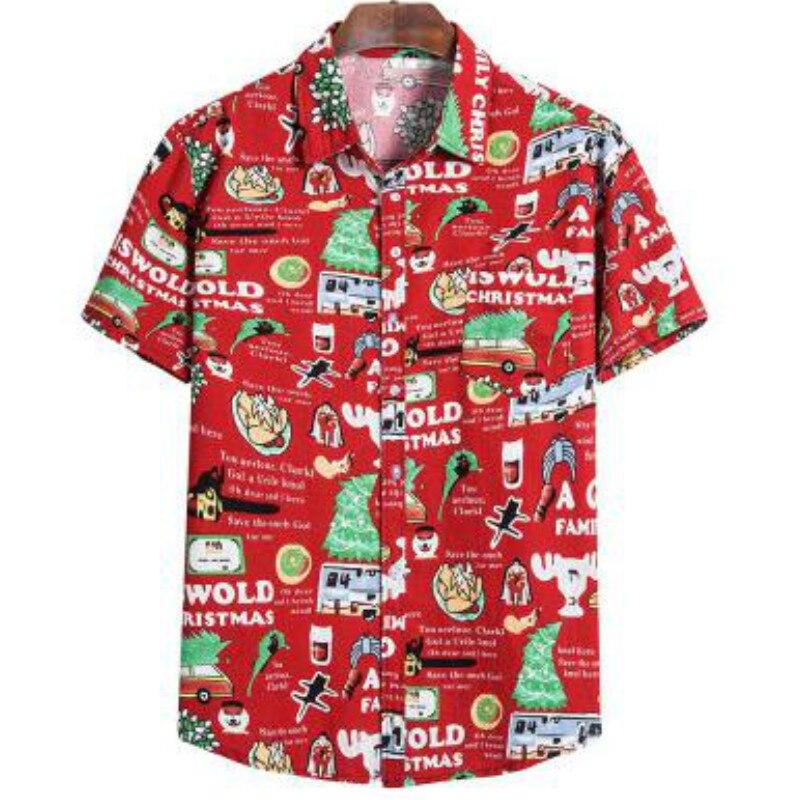 Men Shirt 2020 Men Shirt Summer Style Print Beach Hawaiian Shirt Men Casual Short Sleeve Hawaii Shirt Camisa Masculina Men Shirt