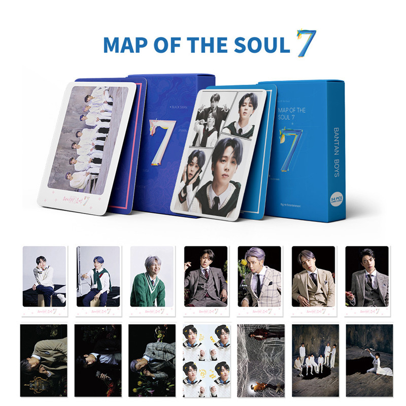 Hot KPOP Bangtan Boys Album MAP OF THE SOUL : 7 Collection Card Photocard Lomo Cards GU220