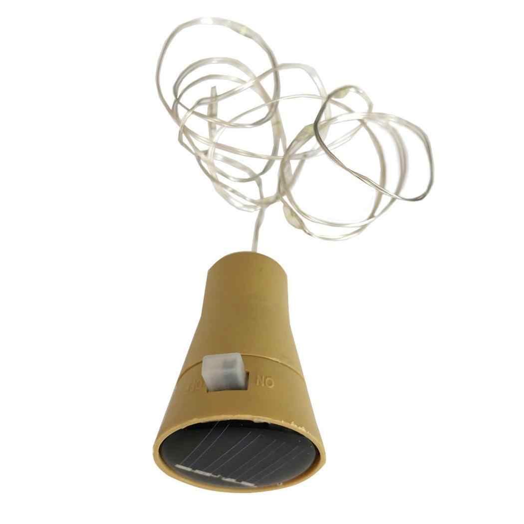 Солнечный светодиодный строка Феи огней в форме пробки лампа 20 светодиодный s вечерние, рождественский дом 2 м вечерние украшения