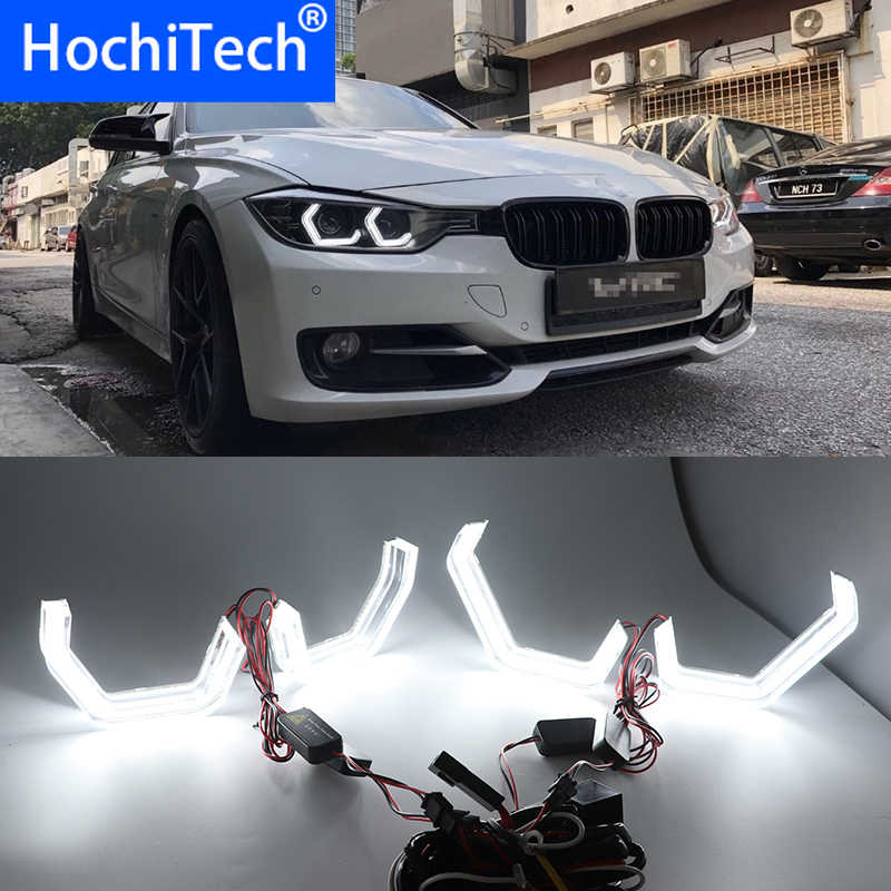 High quality 12V White Crystal Angel Eyes Kits ICONIC M4 Style day light DRL for BMW M3 F80 M4 F82