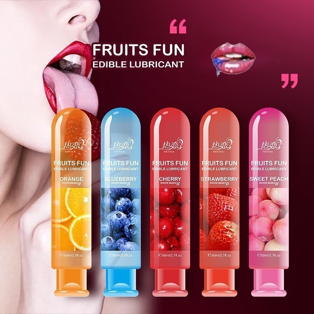 80ml Adult Sexual Body Smooth Fruity Lubricant Gel Edible Flavor Sex Health Product Perfect to warm up sensual massage sex toys 2