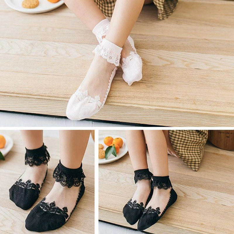 3pairs/Lot Princess Cotton Socks Lace Socks Soft Ruffled Summer Breathable 2