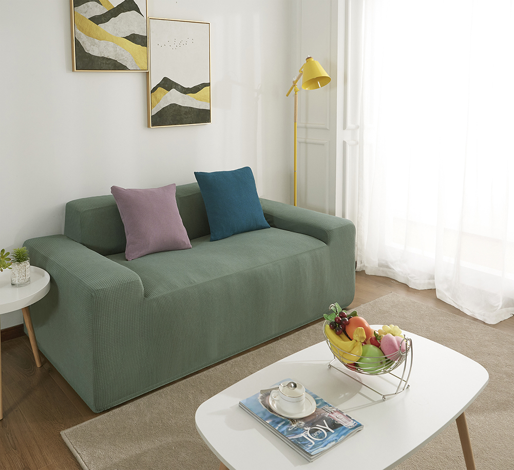 MEIJUNER Waterproof Sofa Cover in Solid Color with High Stretchable Slipcover for Dining Room 21