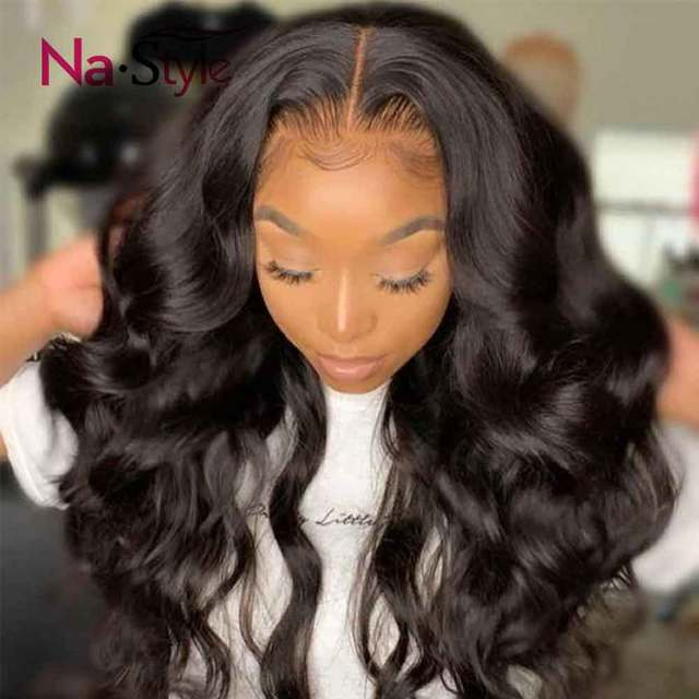 Transparent Lace Wig 250 Density Lace Front Wig Invisible Lace Front Human Hair Wigs Body Wave Preplucked Lace Wig Brazilian 1