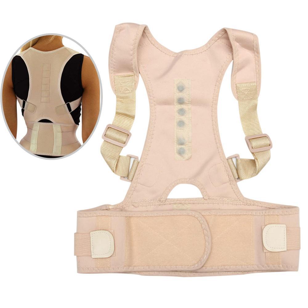 Male Female Adjustable Magnetic Posture Corrector Corset Back Brace Back Belt Lumbar Support Straight Corrector JT-Drop Ship