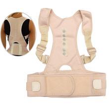 Male Female Adjustable Magnetic Posture Corrector Corset Back Brace Belt Lumbar Support Straight JT-Drop Ship