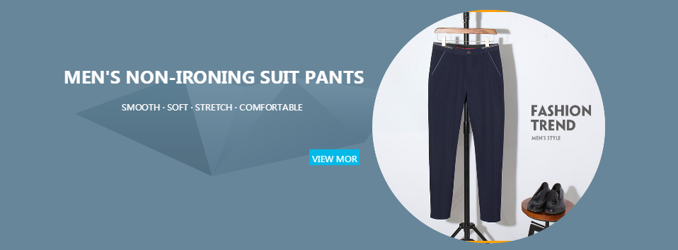 H5ac621aeacd6487f850ae06b5ac93656P HCXY 2019 New Design Spring Summer Men's Smart Casual Pants Slim Pant Straight Trousers Thin Smooth Stretch Business Men Size 38