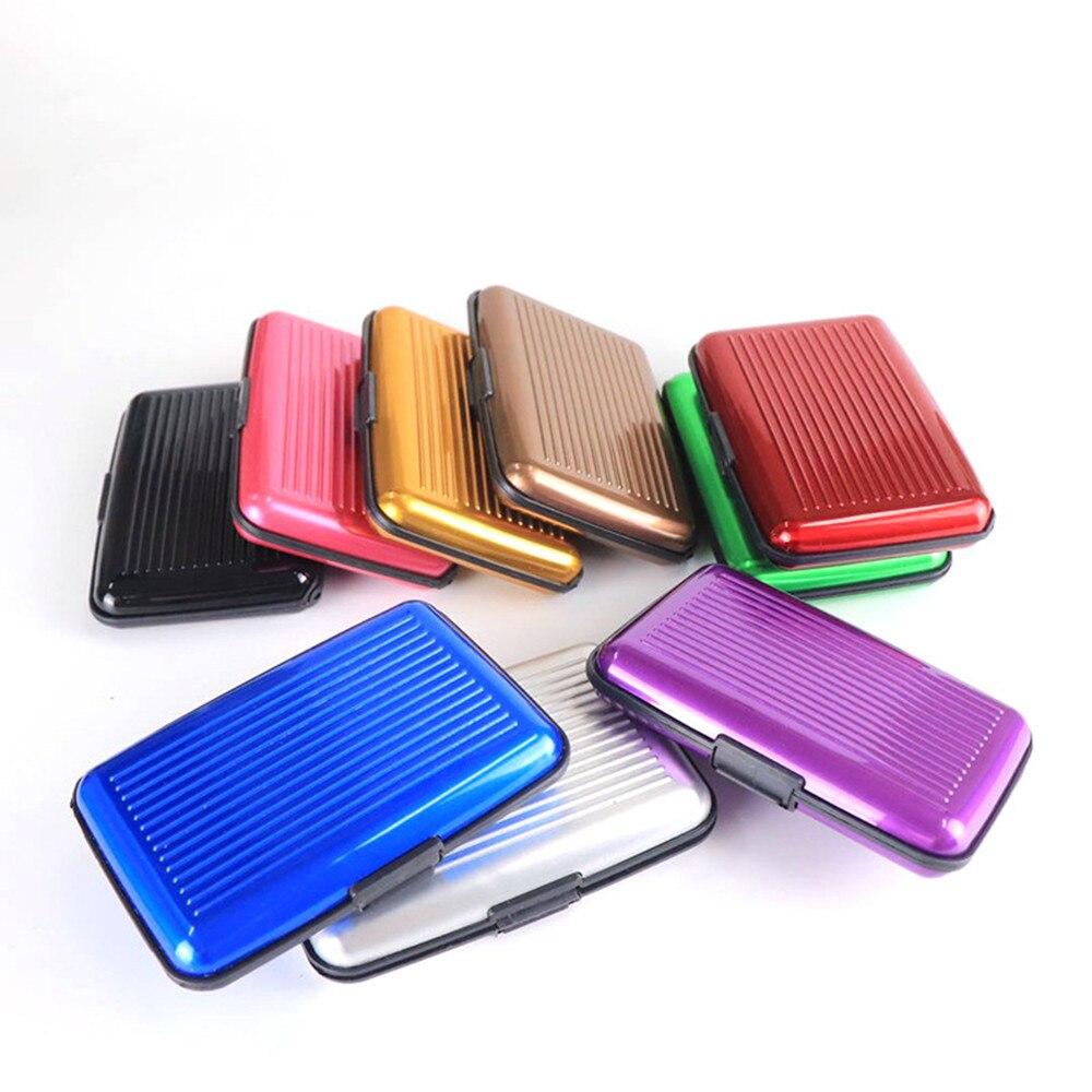 Waterproof Anti-magnetic Metal ID Credit Card Wallet Holder Purse Case Blue 17
