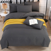 JDDTON Bedding Set 2019 New Classic Colorful 5 Size Solid Color Bed Linings Duvet Pillowcases Cover Bed Sheet Cover Set BE003