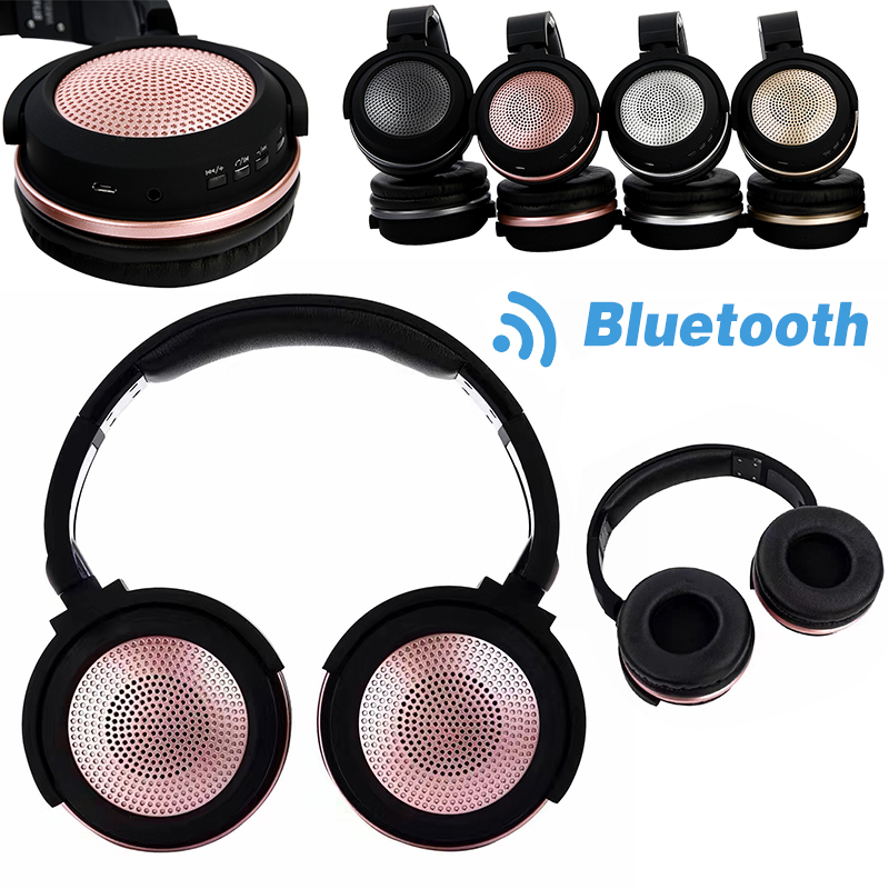 2019 New Wireless Bluetooth Headphones With Noise Cancelling Over-Ear Stereo Game HiFi Earphones With Control Button
