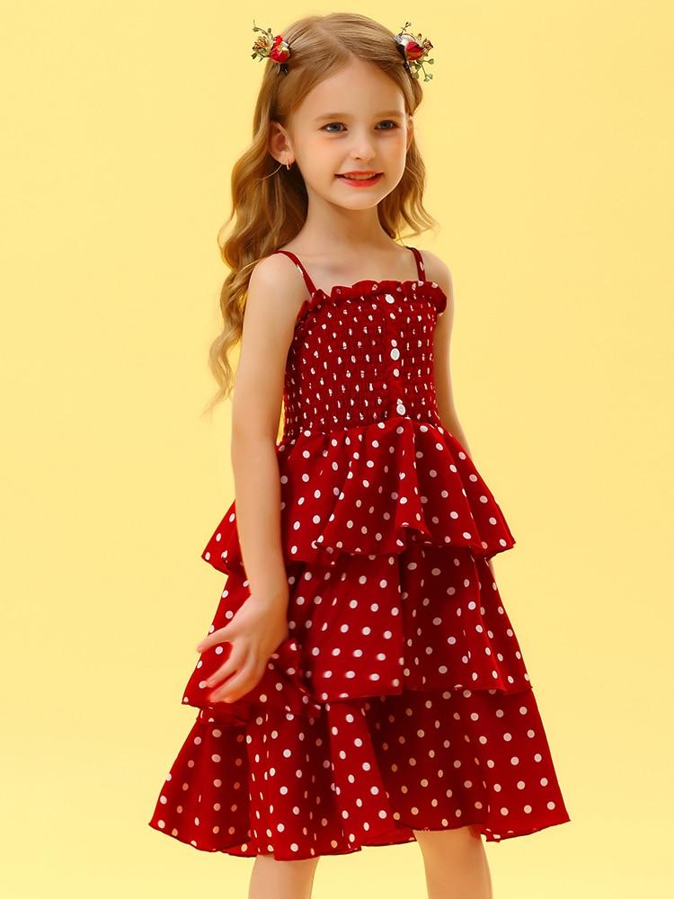 Girls Dresses Cake Kids Clothes Teenagers Elegant Hello-Enjoy Princess Children 10-Years