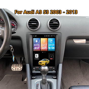 For Audi A3 8P S3 Android radio 2003 2010 2011- 2013 Car Multimedia Player PX6 tesla Stereo Audio autoradio GPS Navi Head unit недорого