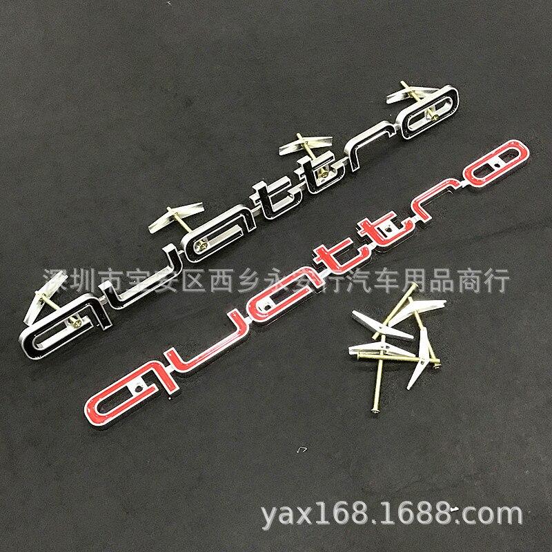 Geschikt Voor Audi Grille Grote Onder De Gewijzigde Grille Quattro Auto Logos Vierwielaandrijving Standaard Om Sloop honeyc