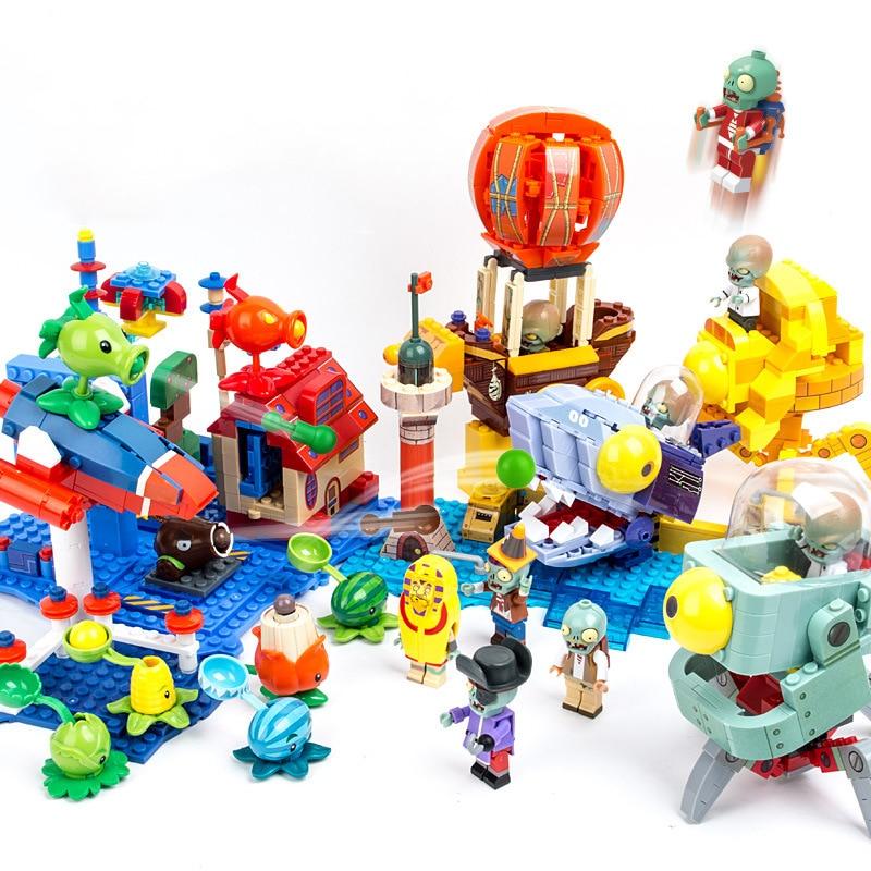 Creative Plants Zombie Action Figures Model Building Blocks Toys For Children Collection Compatible Legoing Bricks Kids Gift