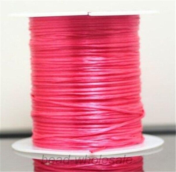 393 дюйма/рулон, крепкий эластичный шнур для бисероплетения с кристаллами, 1 мм, для браслетов, стрейчевая нить, ожерелье, сделай сам, для изготовления ювелирных изделий, шнуры, линия - Цвет: Color 5