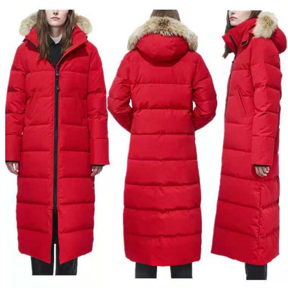 2019 Winter Brand Canadian Style Warm Down Coat Parkas X-long Jacket Extra Long Overcoat Hooded -40 Veste Femme  Vestido Mujer