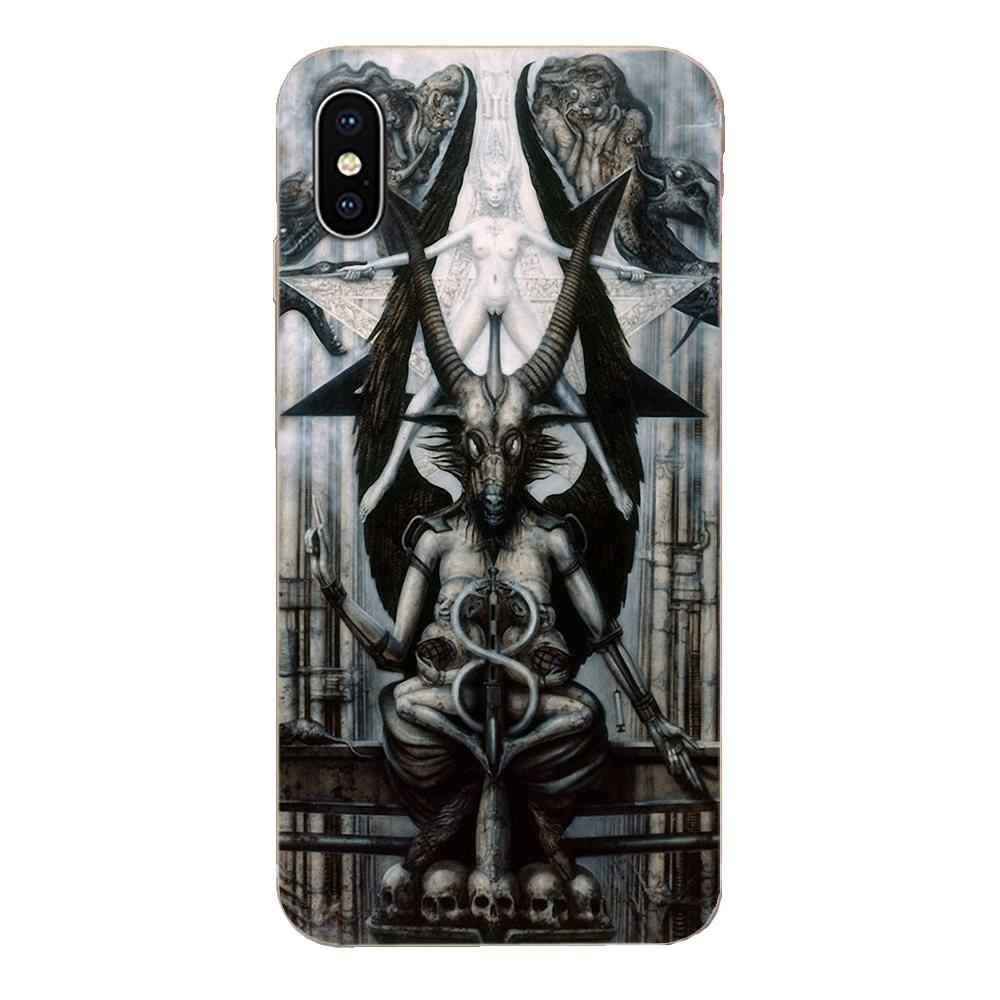 Voor Galaxy Note 10 A10E A10S A20S A30S A40S A50S A6S A70S A730 A8S M30S S2 S3 Plus TPU Telefoon gevallen Cover Hr Giger