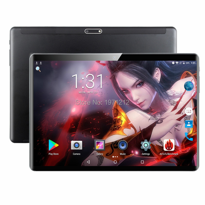2019 New 2.5D Glass 10 Inch Octa Core 3G  4G FDD LTE Tablet 6GB RAM 128GB ROM 1920*1200 Dual Cameras Android 9.0 Tablet 10