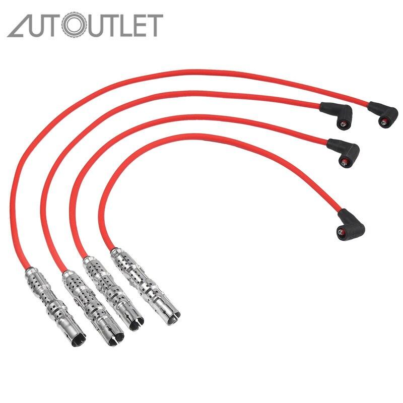 AUTOUTLET für ZÜNDUNG KIT zündung kabel set für VW LUPO 030905430Q bestehend aus 4 zündung kabel