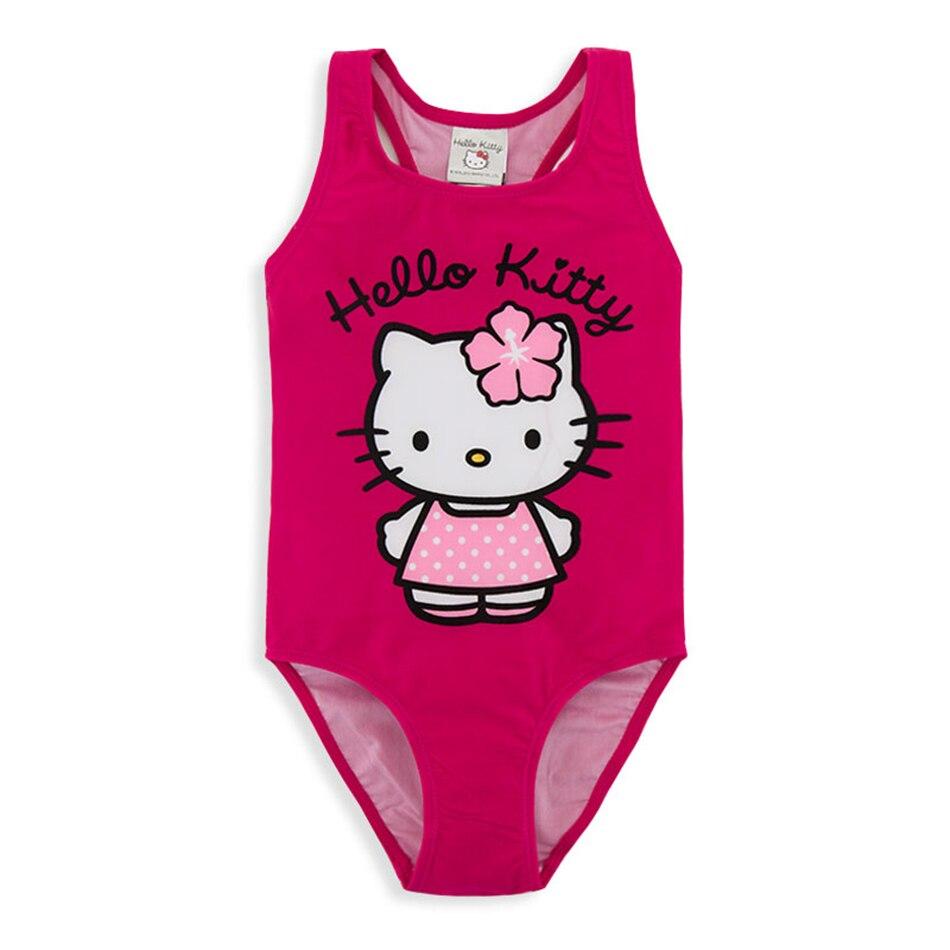 Honeyzone Kids Cartoon Girl Swimwear Hello Kitty One Piece Swimsuit Girls Swimwear For Kids Bathing Suit  Bimba Y Lola