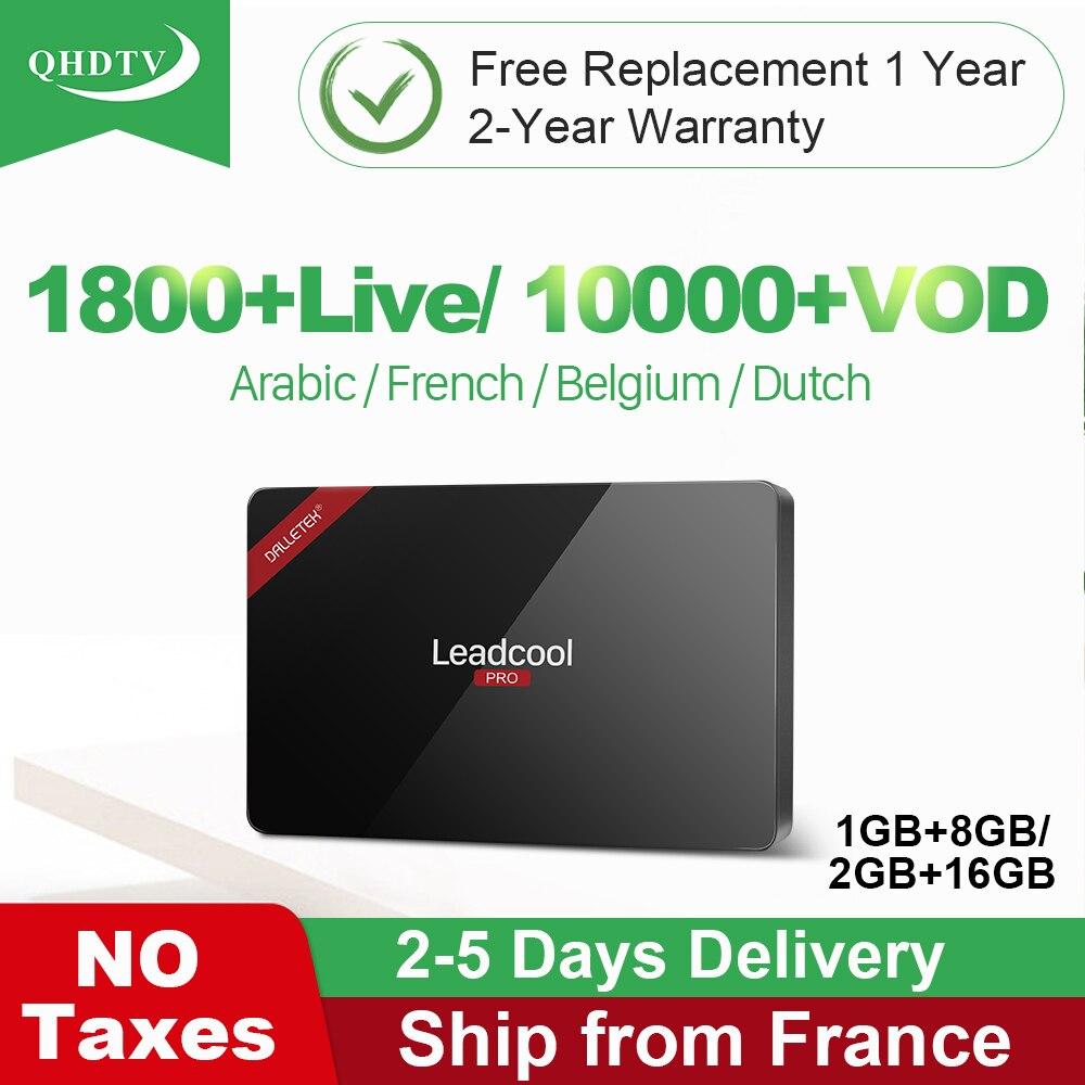 Leadcool Pro IPTV France boîte arabe QHDTV abonnement IPTV France belgique Smart Android 8.1 TV Box pays-bas turquie IP TV