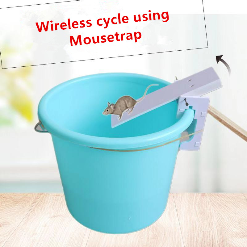 Hot-Selling Seesaw Mousetrap Infinite Loop Using Rodent Killer Household Wooden Mousetrap Bucket Continuous Mousetrap Tool