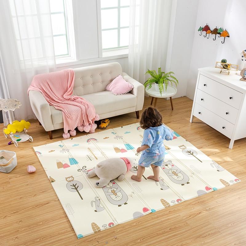 Infant Shining 200cm 180cm 1cm Baby Play Mat Folding XPE Crawling Pad Home Outdoor Folding Waterproof Infant Shining 200cm*180cm*1cm Baby Play Mat Folding XPE Crawling Pad Home Outdoor Folding Waterproof Puzzle Game Playmat