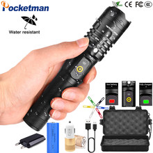 Brightest XHP50 High Power with USB Charging Reminder LED Flashlight Waterproof 3 Modes Zoom able Defensive Electric Torch z90(China)