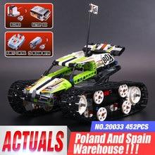 20033 Technic игрушки с дистанционным управлением для автомобиля, совместимые с 42065 RC гусеничная модель гонщика, строительные блоки, кирпичи, детские игрушки, подарки