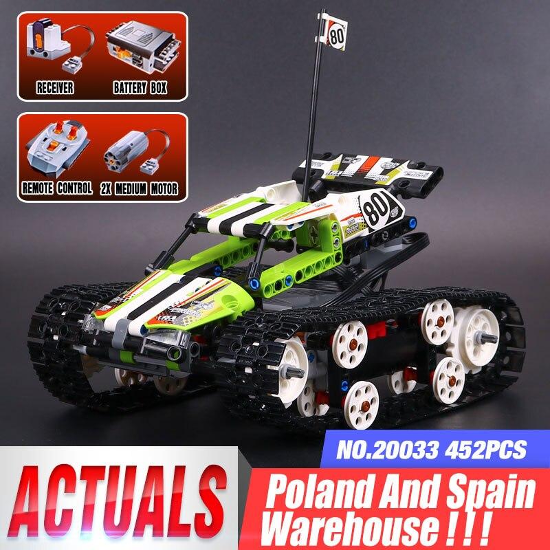 20033 técnica de controle remoto do motor carro brinquedos compatíveis com 42065 rc rastreado racer modelo blocos de construção tijolos crianças brinquedos presentes