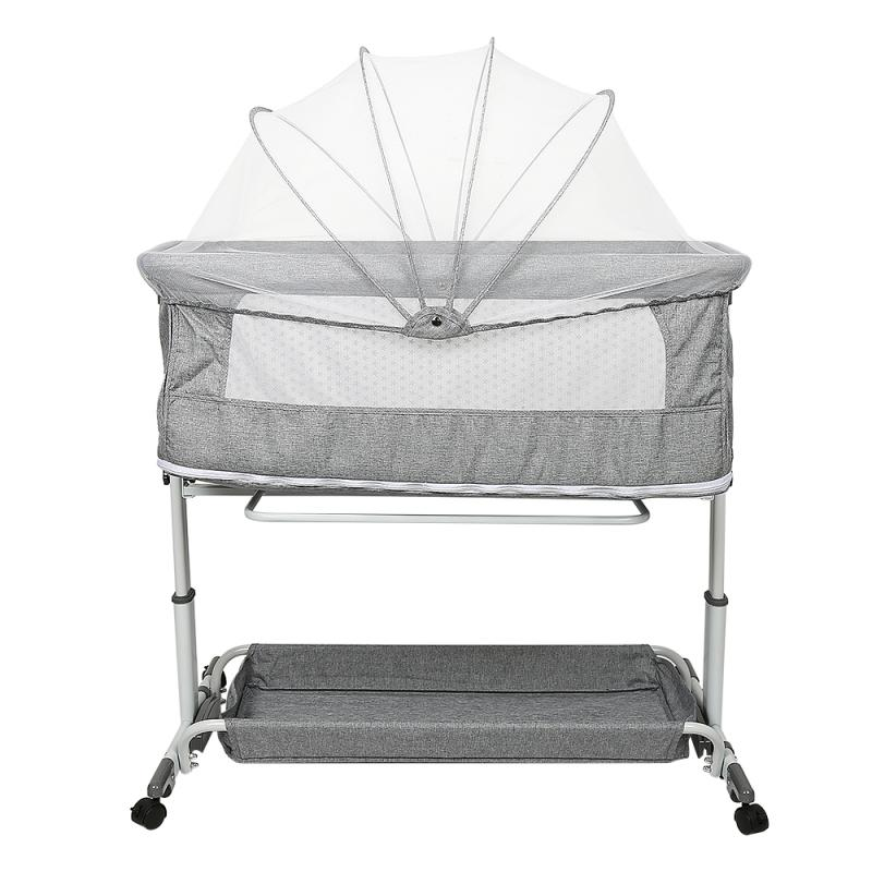 Hot Sales Baby Bed Portable Removable Crib Foldable High And Low Adjusting Stitching Large Bedside Baby Nest Dropshipping HWC