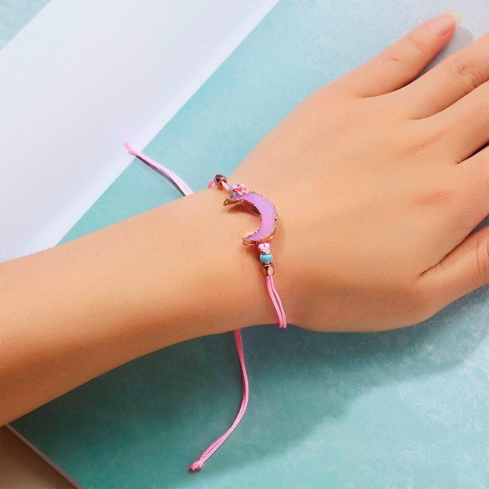 Натуральный камень Новая 7 цветная подвеска тканый браслет с картой Загадай желание регулируемый браслет из веревки для женщин очаровательные подарочные украшения