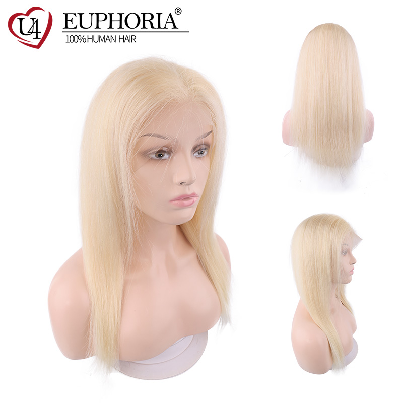 Blonde 613 Color Remy Human Hair Wig 13X4 Lace Front Wigs Brazilian Long Straight Pre Plucked Wig 150% Density Women Euphoria