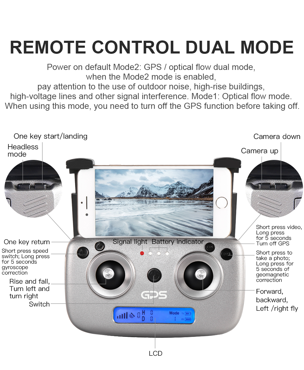 SG907 WIFI RC Quadcopter GPS Drone with 4K HD Dual Camera for Wide Angle Video Shooting 35