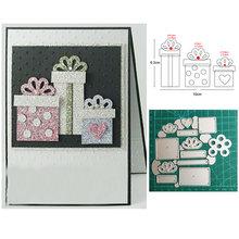 Индивидуальные штампы Подарочная коробка для рождества металлические