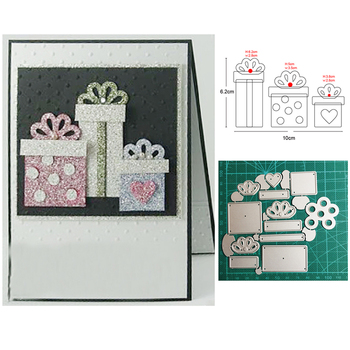Customized dies Christmas Gift Box Metal Cutting Dies Scrapbooking dies for wedding Card Making DIY Embossing Die Cut Craft dies image