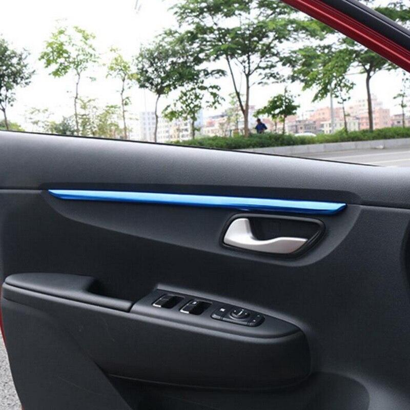 Для Kia Rio 4 X line 2018 2019 автомобильный Стайлинг 4 шт. ручка двери из нержавеющей стали крышка наклейка аксессуары Лепнина для интерьера      АлиЭкспресс