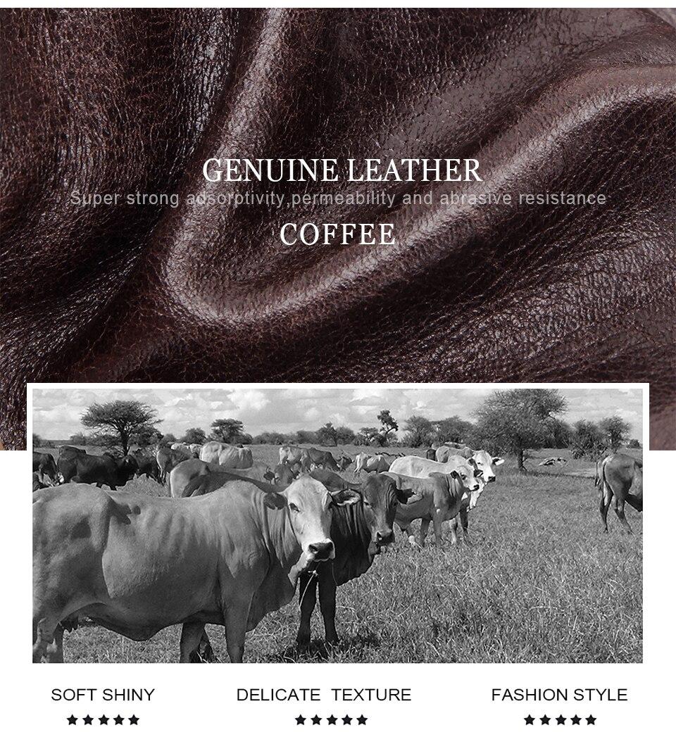 couro genuíno pacotes de cintura marca organizador