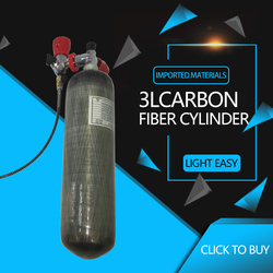 AC103101 Air Tank 3L  4500Psi Carbon Fiber Air Cylinder Pcp Tank M18*1.5 Scba Bottle For Underwater Gun Paintball  Tank Acecare