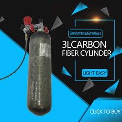 AC103101 zbiornik powietrza 3L 4500Psi Cylinder powietrza z włókna węglowego Pcp zbiornik M18 * 1.5 aparatów oddechowych  butelka do pracy pod wodą Paintball Gun zbiornik Acecare w Respiratory pożarnicze od Bezpieczeństwo i ochrona na