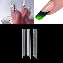 Полупокрытие C Curve, двойная система, формы для ногтей, 120 шт., УФ-акриловый гель для ногтей, удлиненные искусственные наконечники