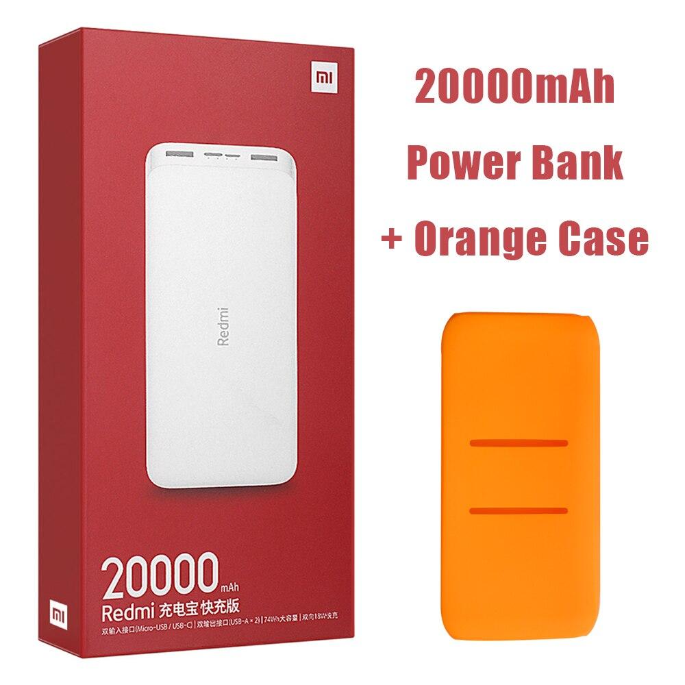 Новейший Xiaomi Redmi внешний аккумулятор 20000 мАч 18 Вт Быстрая зарядка 10000 мАч Внешний аккумулятор быстрая зарядка портативное зарядное устройство - Цвет: 20000mAh Add Orange
