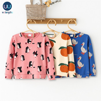 Kids T Shirts For 1-8Y Brand Autumn Winter Baby Boys Girls Long Sleeve Print Sweatshirts Baby Children Cotton Tops Tees Clothes 10 color fashion baby boys girls lion king print sweatshirts cotton kids hoodies pants children clothes long sleeve sweatshirt
