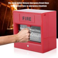 Аварийный выход Кнопка пожарной тревоги релиз безопасности стекло разбивание сигнализации переключатель пожарной аварийной кнопки boton de panico