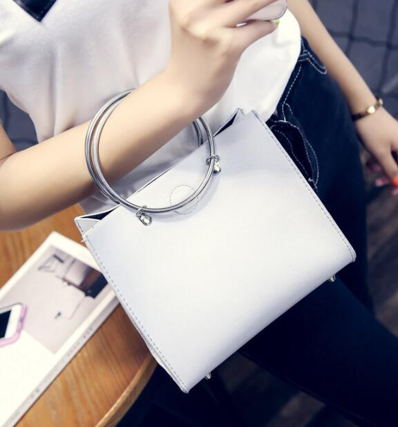 Free Shipping 2019 Concentric Ring Personality Shoulder Handbag Noble Temperament Bag