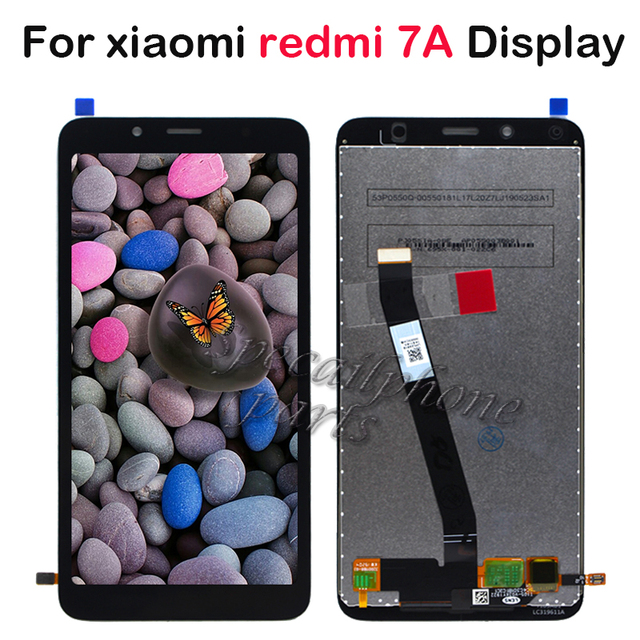 ЖК дисплей 5,45 для Xiaomi Redmi 7A, ЖК дисплей + дигитайзер сенсорного экрана в сборе, запасные части для ремонта ЖК дисплея Redmi 7A